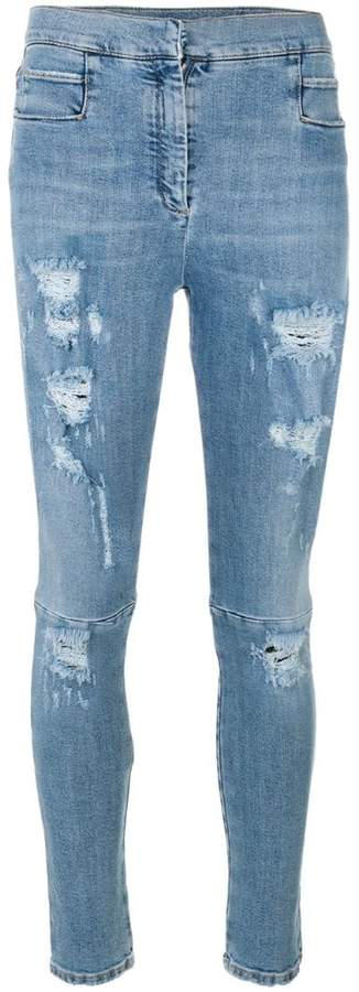 Balmain distressed slim jeans