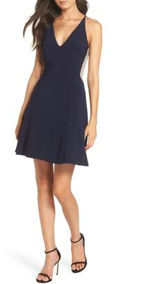 Xscape Evenings Deep V-Neck Skater Dress