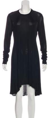 Alexander Wang Long Sleeve Ribbed Dress Black Long Sleeve Ribbed Dress