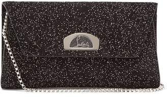 Christian Louboutin Vero Dodat Embellished Suede Clutch - Womens - Black Silver