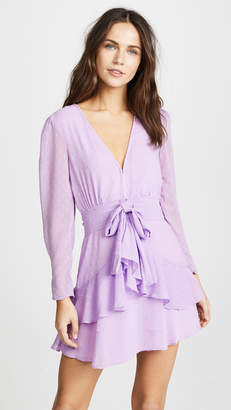 For Love & Lemons Tarta Long Sleeve Mini Dress
