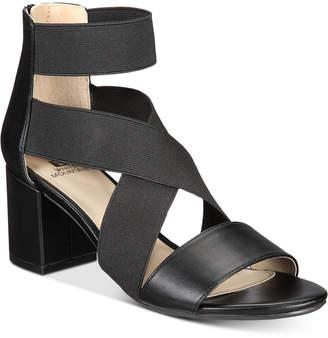 White Mountain Edie Block-Heel Sandals Women's Shoes
