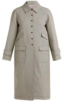 ALEXACHUNG Houndstooth Wool Blend Coat - Womens - Black White