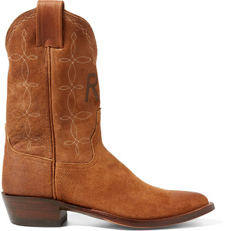 Ralph Lauren Plainview Suede Cowboy Boot