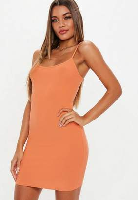 Missguided Peach Strappy Cami Mini Dress