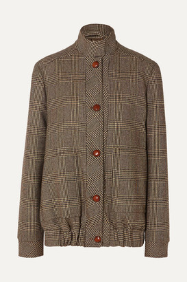 Giuliva Heritage Collection Diana Prince Of Wales Checked Merino Wool Jacket - Brown