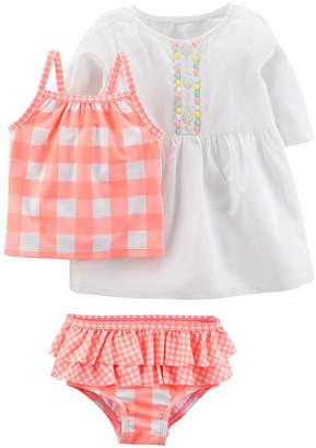 Carter's Girls Checked Tankini Set - Baby
