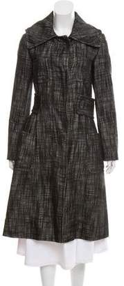 Giambattista Valli Wool & Leather-Blend Long Coat