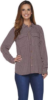 "C. Wonder Rope Print Button Front ""Carrie"" Blouse"
