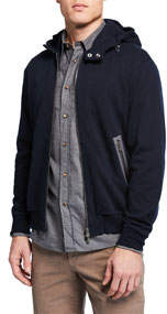 Men's Hooded Sports Zip-Front Sweater