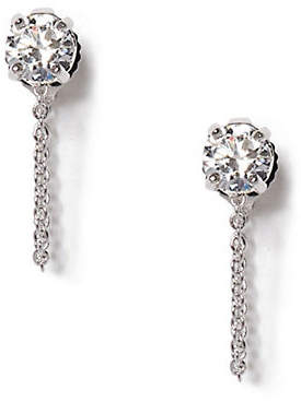 Vince Camuto Silver Crystal Stud Swag Earrings