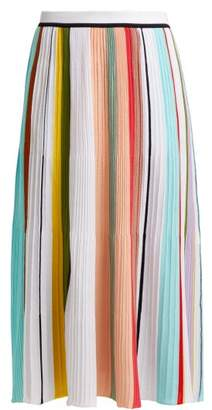 Missoni Striped Pleated Cotton Skirt - Womens - Multi Stripe