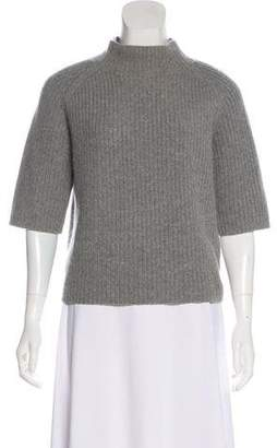 Theory Wool-Cashmere Short Sleeve Top