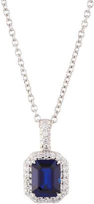 FANTASIA Asscher-Cut CZ Crystal Pendant Necklace