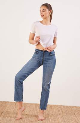 Reformation Zip Crop Straight Leg Jeans