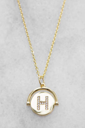 Lulu DK Initial Spinner Necklace H