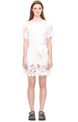Rebecca Taylor La Vie Embroidered Clean Jersey Dress
