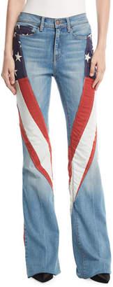 Tre by Natalie Ratabesi Demi-Vintage Denim Flag Flared Jeans
