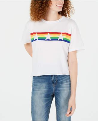 Rebellious One Juniors' Rainbow Star Graphic T-Shirt