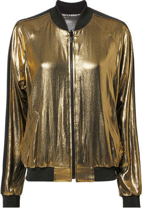 Barbara Bui Reversible Metallic Bomber Jacket
