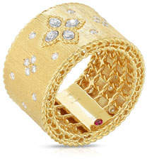 Roberto Coin 18k Gold Venetian Princess Diamond Ring, Size 6.5