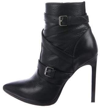Saint Laurent Paris Pointed-Toe Ankle Boots