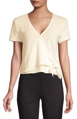 Madewell Texture Thread Wrap Tie Top
