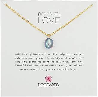 Dogeared Baroque Blk Pearls Of Love Chain Necklace