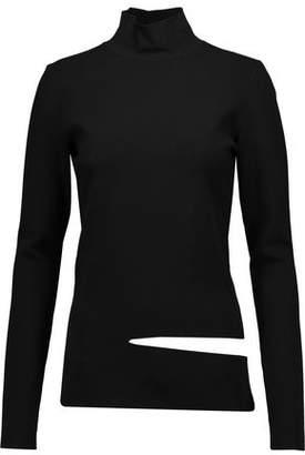 Proenza Schouler Cutout Stretch-Knit Turtleneck Top