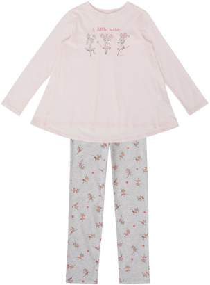 Benetton Girls Ballerina Mouse Long Sleeve Pyjamas