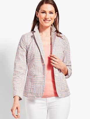 Talbots Patchwork Stripe Blazer