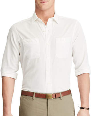 Polo Ralph Lauren Standard-Fit Cotton and Silk Work Shirt