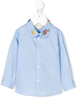 Gucci Kids embroidered collar shirt