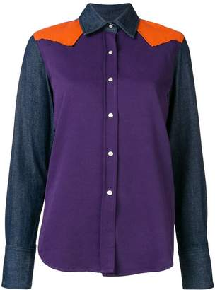 Calvin Klein Jeans colour block denim shirt