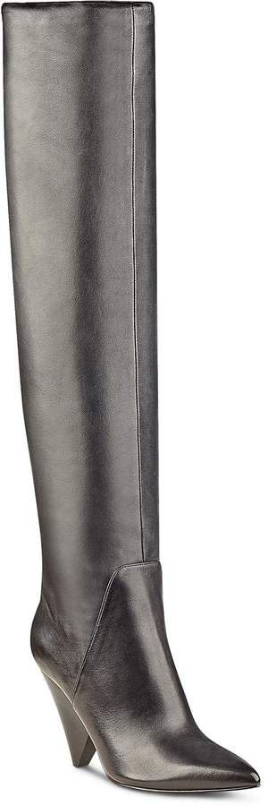 Marc Fisher Fancee Leather Over-the-Knee Boots
