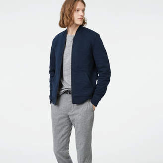 Club Monaco Quilted Knit Bomber