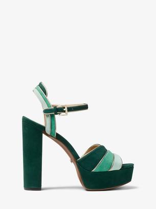 1b4f10bb896 MICHAEL Michael Kors Harper Tri-Color Suede Platform Sandal