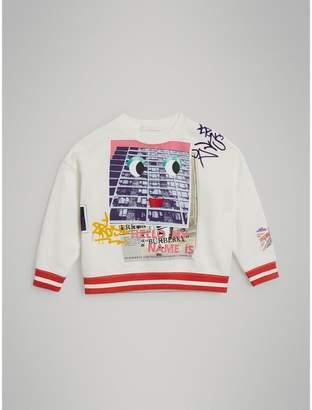 Burberry Polaroid Print Cotton Sweatshirt