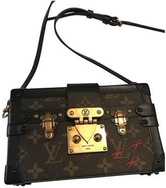 a90f1af25de2 Louis Vuitton Petit Malle Brown Cloth Clutch Bag