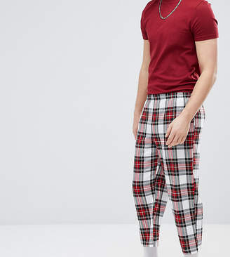 Reclaimed Vintage Inspired Cropped Relaxed PANTS In Check