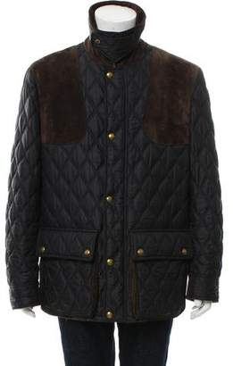Tom Ford Suede-Trimmed Quilted Jacket