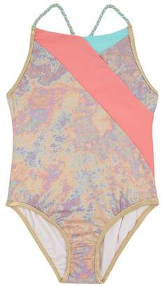 Marc Jacobs Iridescent Colour Block Swimsuit