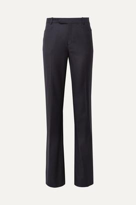 Joseph Rocker Super 100 Wool-twill Wide-leg Pants - Midnight blue