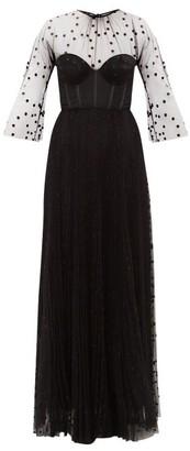 Maria Lucia Hohan Natalie Boned Bodice Polka Dot Tulle Dress - Womens - Black