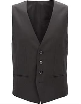 HUGO BOSS Slim-Fit Waistcoat In Virgin Wool