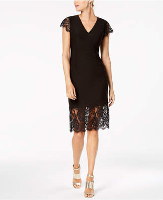 Nanette Lepore Nanette by V-Neck Lace Midi Dress, Created for Macy's