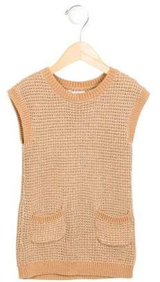Chloé Girls' Metallic-Accented Sweater Dress