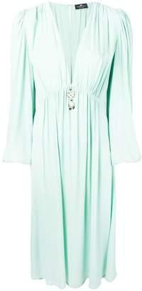 Elisabetta Franchi plunge-neck dress