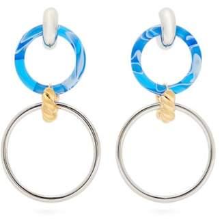 Balenciaga Chain Link Drop Earrings - Womens - Blue