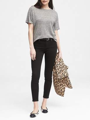 Banana Republic Skinny Stay Black Ankle Jean